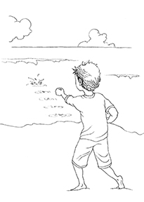 The Skipping Stone Coloring Sheet